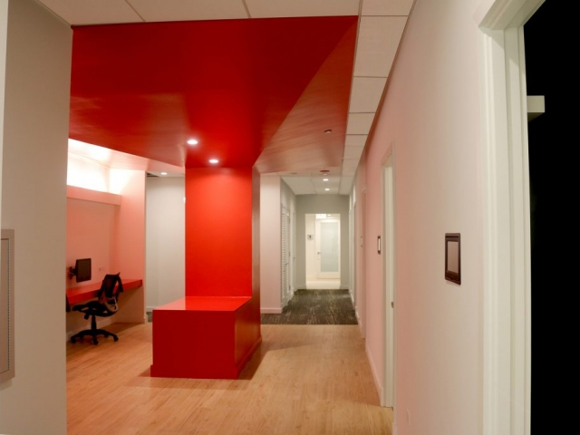 Office interior hallway