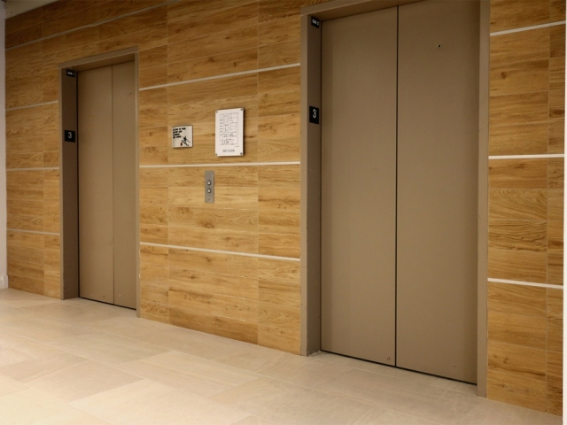 Elevator waiting area